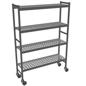 Fermostock hygienic rack trolleys
