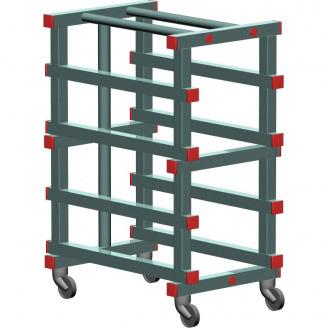 REA containers, trays and clearing trolleys