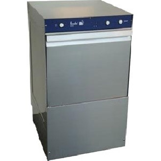 Front loading glass washing machines