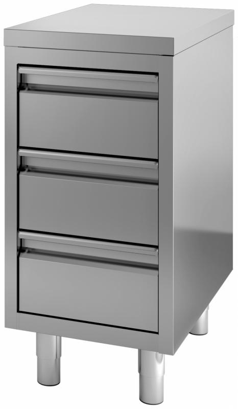 Combisteel 700 Work Cupboard With Drawers 400