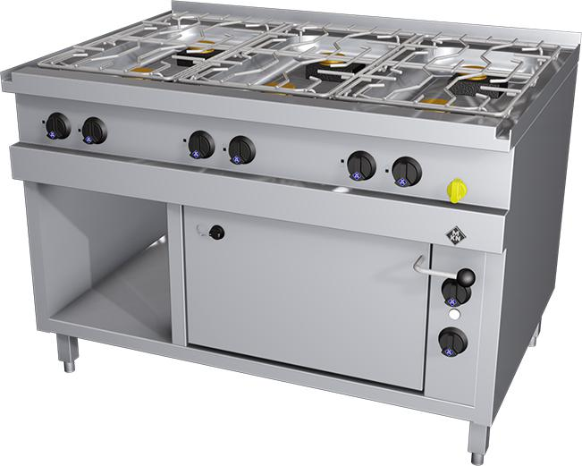 Flame Gas Stove With Electric Oven