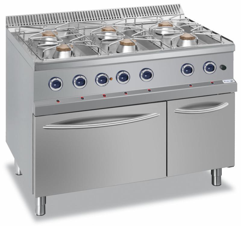 Roeder 6 Pits Gasfornuis 6x70kw Gas Oven 60kw Bk7g6faxl