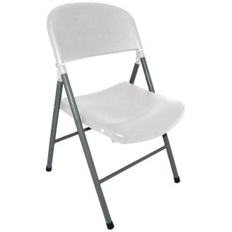 Bolero folding chairs white - 2 pieces