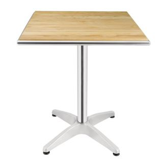 Bolero square table with ash wood top 60 cm