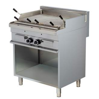 Combisteel Base 700 lavasteengrill gas - 800 mm breed