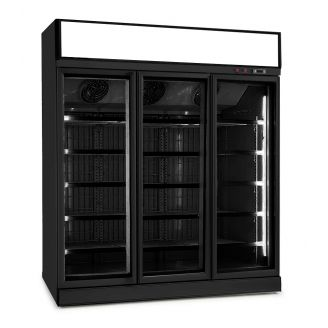 Combisteel Freezer 3 glass doors black ins-1530f bl