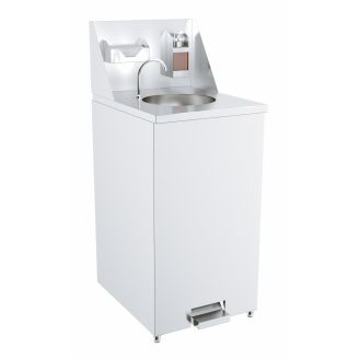 Combisteel Mobile hand washing station - tap with foot control