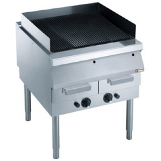 Diamond Grill on gas, grill in cast iron, with base
