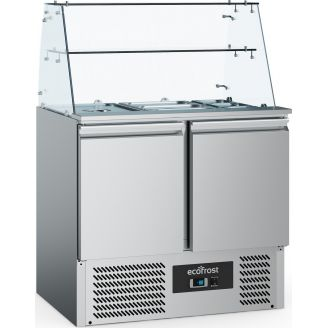 Ecofrost saladette - 2 doors, with glass construction