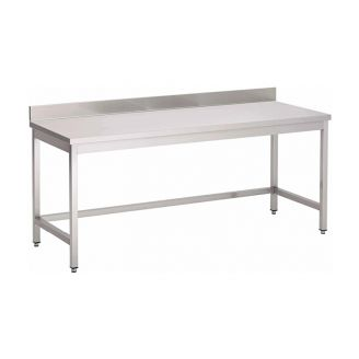 Gastro-Inox stainless steel work table with backsplash, self-mounting