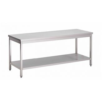Gastro-Inox stainless steel work table, self-mounting