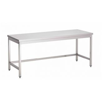 Gastro-Inox stainless steel work table without bottom, self-mounting