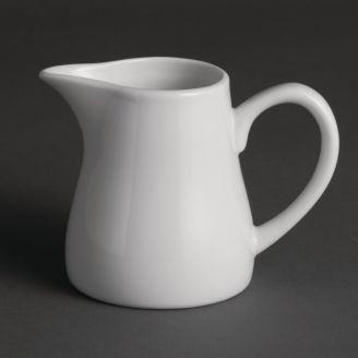 Olympia Whiteware milk jugs with handle 21.2cl