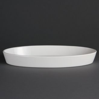 Olympia Whiteware oval baking dishes 33 x 18 cm