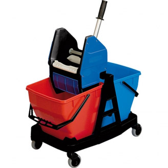 Rubbermaid Mop Drying Cart with Press 2x 18 litri