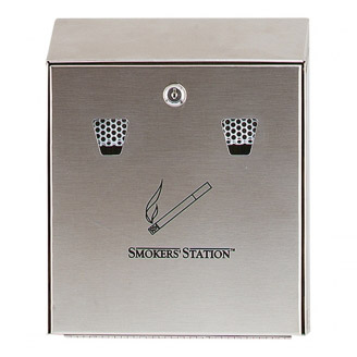 Cenicero de pared Smokers'Station Acero inoxidable